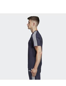 Camiseta Essentials 3 stripes tee - Marino