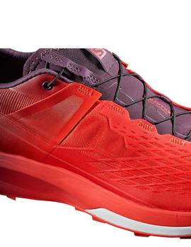 Zapatillas trail S lab ultra 2 - Rojo granate