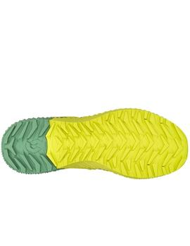 Zapatillas trail Kinabalu power - Verde amarillo