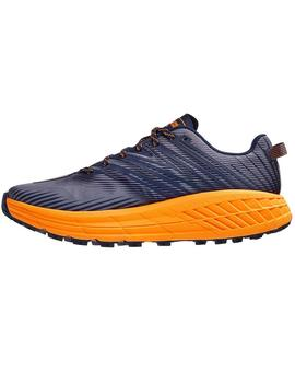 Zapatillas trail Speedgoat 4 - Marino naranja