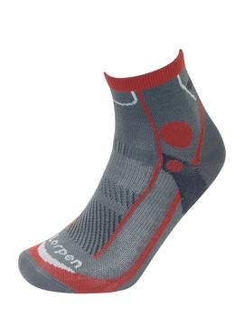 Calcetines Trail running light - Gris naranja