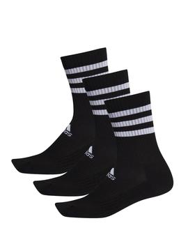 Calcetines 3 stripes csh crew - Negro blanco