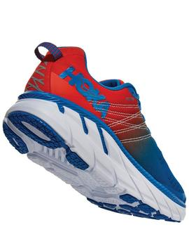 Zapatillas running Clifton 6 - Azul rojo blanco