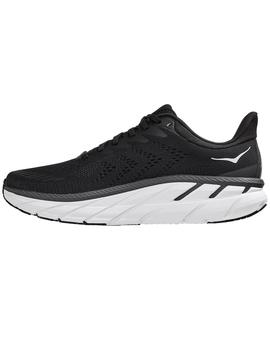 Zapatillas running Clifton 7 wide - Negro blanco