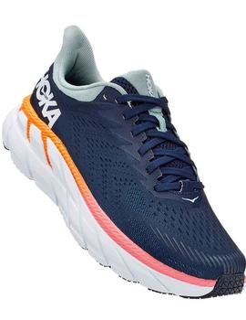 Zapatillas running Clifton 7 W - Marino blanc nara