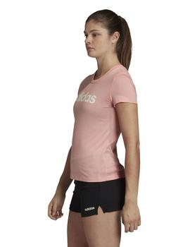 Camiseta essentials slim tee w - Rosa blanco