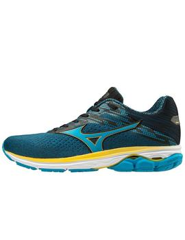 Zapatillas running Wave rider 23 - Azul amarillo