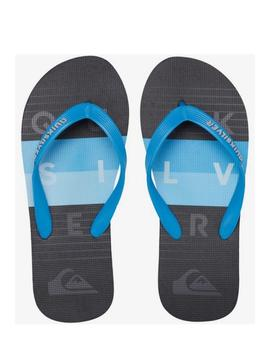 Chanclas Molokai wordblock youth - Negro azul