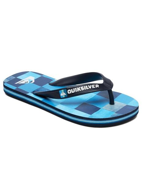 Chanclas Molokai resin check youth - Azul cuadro