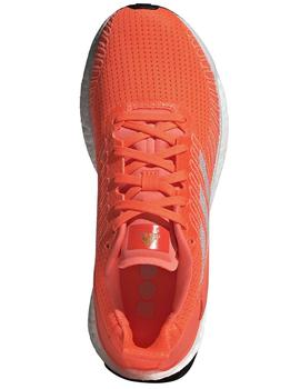 Zapatillas running Solar boost 19 w - Naranja blanco