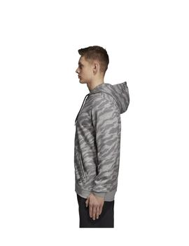 Chaqueta Essentoal allover print fz hd - Gris