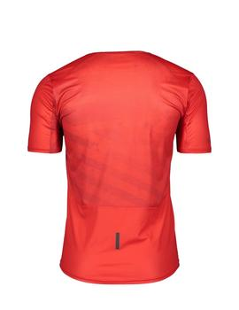 Camiseta Ms trail run s-sl - Rojo negro