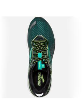 Zapatillas running Ghost 12 - Negro lima azul