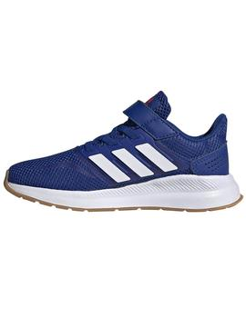 Zapatillas Run falcon c - Azul blanco