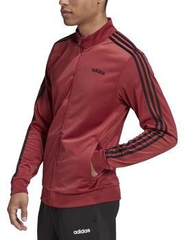 Chaqueta Essentials 3 stripes tt tricot - Granate