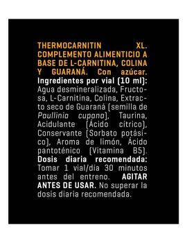 Varios Thermocarnitin xl viales 10 ml - Limon