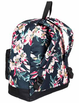 Mochila Be young - Negro flores
