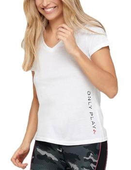 Camiseta V-NECK SS TEE - BLANCO