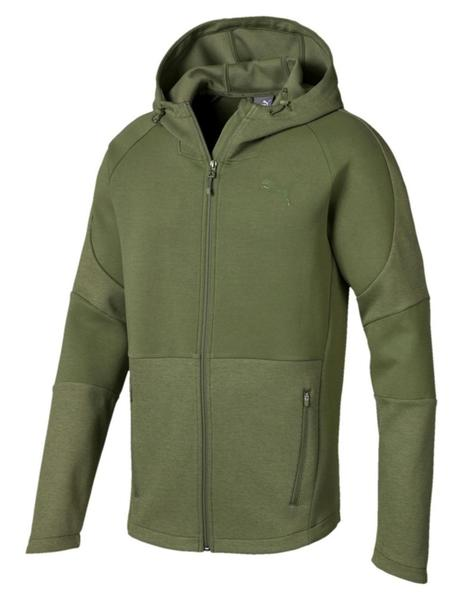 Sudadera Evostripe move hooded jacket - Verde