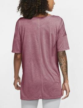 Camiseta Dri  fit yoga layer - Rosa