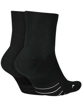 Calcetines nike Multiplier ankle -  Negro
