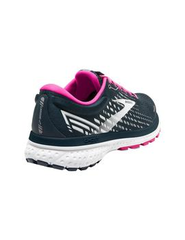 Zapatillas running Ghost 13 w - Azul blanco rosa