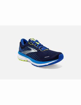 Zapatillas running Ghost 13 - Azul blanco lima