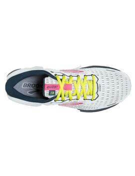 Zapatillas running Ghost 13 w - Blanco rosa