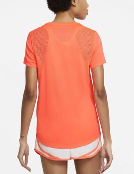Camiseta técnica Running ss top - Coral
