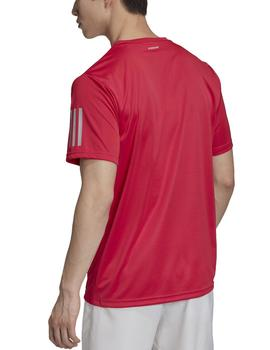 Camiseta Club 3 stripes tee - Rojo