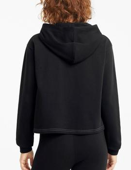 Sudadera Amplified cropped hoodie - Negro