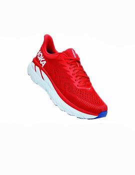Zapatillas running Clifton 7 - Rojo blanco