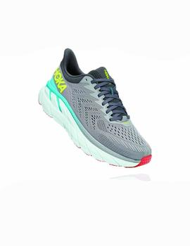 Zapatillas running Clifton 7 wide horma ancha - Gris