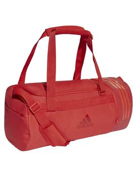 Bolso Convertible 3 Stripes duffel s - Rojo